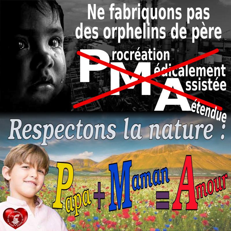 PMA : Ne fabriquons pas des orphelins de père.