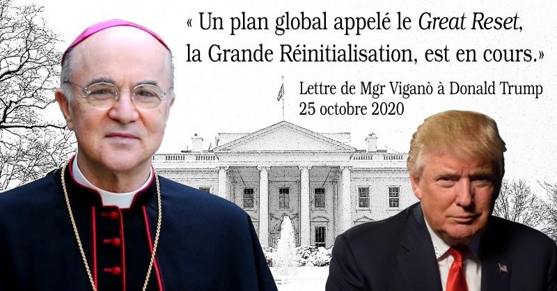 Mgr Viganò dénonce à Donald Trump le « Great Reset » mondialiste en cours -  UCLF
